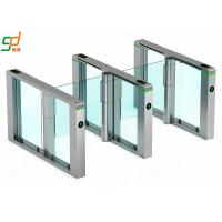 Quality Waist High Biometri Supermarket Swing Barrier Speed Swing gate For Subway for sale