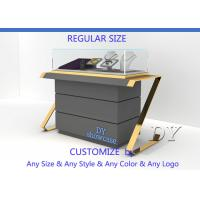 Buy Personality Avant-Garde Gold Stain Steel Glass Jewelry Store Cases at wholesale prices