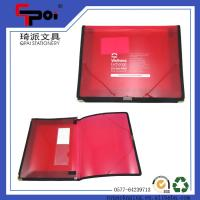 Buy cheap Stationery Translucent PP File Case With Elastic Customized Folder Case Document from wholesalers