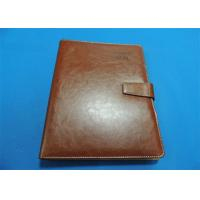 Quality Personalized 1 Color Leather Bound Book Printing A4 B5 With Gloss Lamination for sale