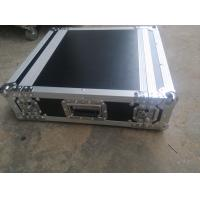 Quality Black Color 2 U Rack case , 2 U Flight Case With 9 MM Thickness Plywood Road Case for sale