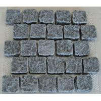 Quality Small Dark Grey Granite Paving Stone, China Grey Granite Easy Pavers for sale