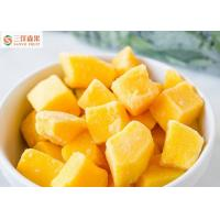 China Safe Yellow Organic Frozen Mango Slices / Chunks No Artificial Colors on sale
