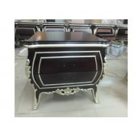 Quality Western Hotel Nightstand 2 Drawers Carved Sliver Edge Simple Design for sale