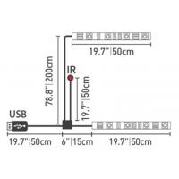 China IR Remote Control 5V USB Powered TV LED Strip RGB Color Changing TV Mood Light for sale