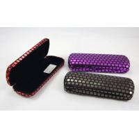 Quality Printing Classic Luxury Small Spectacle Cases Polka Dot Designed 160X60X31 mm for sale