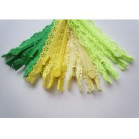 Quality Custom Length Double Sided Sewing Notions Zippers , Nylon Lace Zipper For Clothes for sale