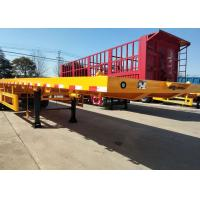 China Container Carrying Flat Bed Semi Trailer Truck With 3 Axles 30-60 Tons 13m for sale