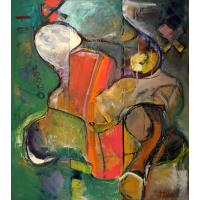 Buy cheap abstract painting art flower 50x50cm cafe wall decor from wholesalers