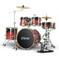 Quality Pro - level Cherry Red Lacquered Birch Wood 5 Piece Adult Drum Set ISO9001:2008 for sale