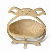 Quality Foldable Fruit Baskets, Made of Wood and Bamboo for sale