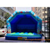 Quality Blue Small Inflatable Air Bouncer For Trampolines And Structures / Inflatable Jumping Castle for sale