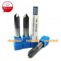 Quality 90º Tialn Coated End Mills / Carbide Milling Cutters 0.5 - 0.6 um Micro Grain Size for sale