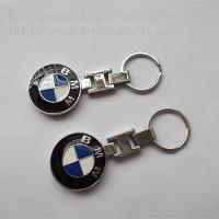 Quality Enamel metal BMW car logo coin holder keychains, custom auto logo keychains, for sale
