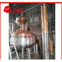 Quality Sight Glass Alcohol Moonshine Pot Still Distillation With Themometer for sale