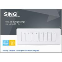 Quality GNW58C eight gang  single way  RF Lamp Switching/ wall mount usb power charge wall switches for sale