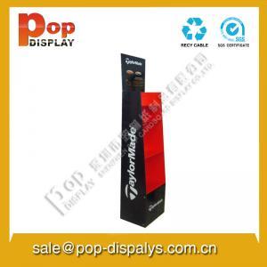 China Biscuit Custom Cardboard Floor Display Stands With Oil Printing on sale