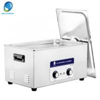 Quality Mesh Basket Mechanical Ultrasonic Cleaner , Ultrasonic Fuel Injector Cleaning 20L for sale