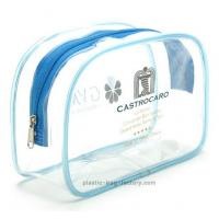 Buy cheap Clear Vinyl Travel Cosmetic Bag Transparent Makeup Pouch PVC Cosmetic Bag from wholesalers