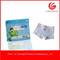 Quality Resealable Zippered Plastic Packaging For Clothing Children Underwear Use for sale