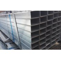 Buy BS1387 ERW Galvanized Steel Square Pipe , Q345 Zinc Coating Steel Rectangular Pipe at wholesale prices