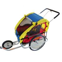 Quality ECO deluxe Double bicycle baby Trailer / Jogger with 420D waterproof polyester textile for sale