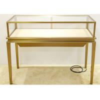 Quality Luxury Jewelry Display Cases Stainless Steel Tempered Glass Material for sale