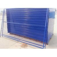 Quality Outdoor Temporary Security Galvanized Steel Fence Panels Round / Square Post for sale