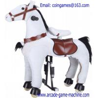 Quality Amusement Park Mechanical Animal White Horse Children Ride Toy For Sale for sale