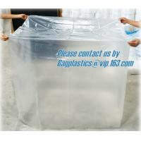 China China wholesale pe plastic bag of waterproof pallet covers, Reusable Waterproof Plastic PVC Pallet Cover,100% Polyester on sale