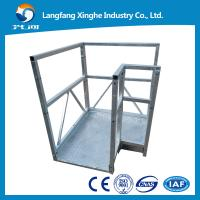 Quality L TYPE aluminium alloy / hot galvanized suspended scaffolding / adjustable suspended scaffolding for sale