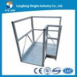 Quality L TYPE aluminium alloy / hot galvanized suspended scaffolding / suspending machine for sale