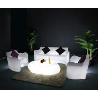 Quality illuminated glow LED plastic lighted  SOFA table set  for bar ktv party decoration for sale