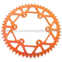 China Aluminum Dirt Bike Rear Chain Sprocket / CNC Milling Dirt Bike Chains And Sprockets on sale