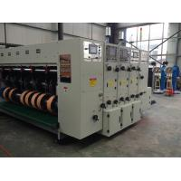 Buy cheap High speed 3 colors water ink printing slotting machine with front edge paper from wholesalers