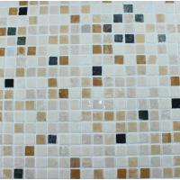 Quality Washroom Bathroom Backsplash Tile Square Pattern Marble Stone Mosaics for sale