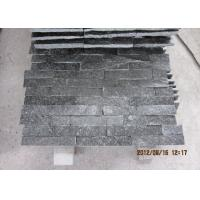 Quality Natural Black Quartz Slate Tile , Wall Decoration Ledger Slate Stone 60x15cm for sale