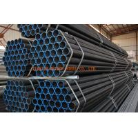 Quality Black Pained ERW Welded Steel Pipe / BS1387-1985/ASTM A53 ERW Steel Pipe for sale