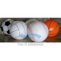 Quality Attractive 0.18 mm PVC Inflatable Sports Themed Balloons Logo Printed for sale