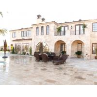 Quality Crosscut  Filled Outdoor Travertine Patio Tile , Tumbled Travertine Floor Tiles for sale