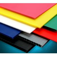 Quality Recycle Hollow Corrugated Board / Twin Wall 4 x 8 Corrugated Plastic Panels for sale