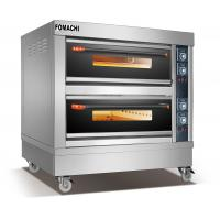 Quality Electric Deck Oven 2 Deck 4 Trays Front Stainless Steel Electric Deck Oven FMX-O40B for sale