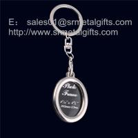 Quality Oval metal picture locket key ring, oval photo locket key chain, for sale