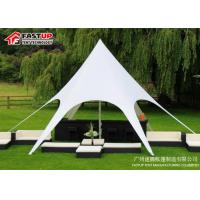 Quality Banquet Pvc Cover Star Canopy Tent , Diameter 6M 30 Person Tent Tear Resistant for sale
