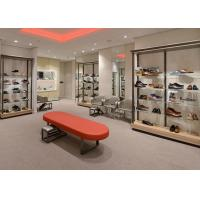 Buy Durable Inexpensive Shoe Display Cabinet / Glass Shoe Shelves Simple Modern Design at wholesale prices