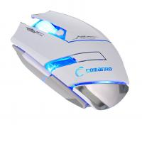 Quality Custom Black Or White Wired Gaming Mouse 500 1000 1500 2000 DPI for sale