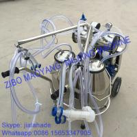 Quality For EU market,Vacuum Pump Typed Double Buckets Mobile Milking Machine,good price portable milking machine for farms for sale