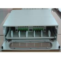 Quality SF-FPP008:Sliding Type 2U 24Core Fiber Optic Patch Panel With Front Glass Dust Cover Door for sale