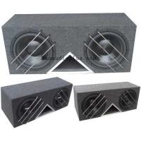 Quality 3 Metal Bar Protector Dual 12 Car Subwoofer Box 15mm MDF Enclosure for sale