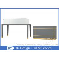 Quality OEM Gray Wood Jewelry Counter Cases / Jewellery Counter Design for sale